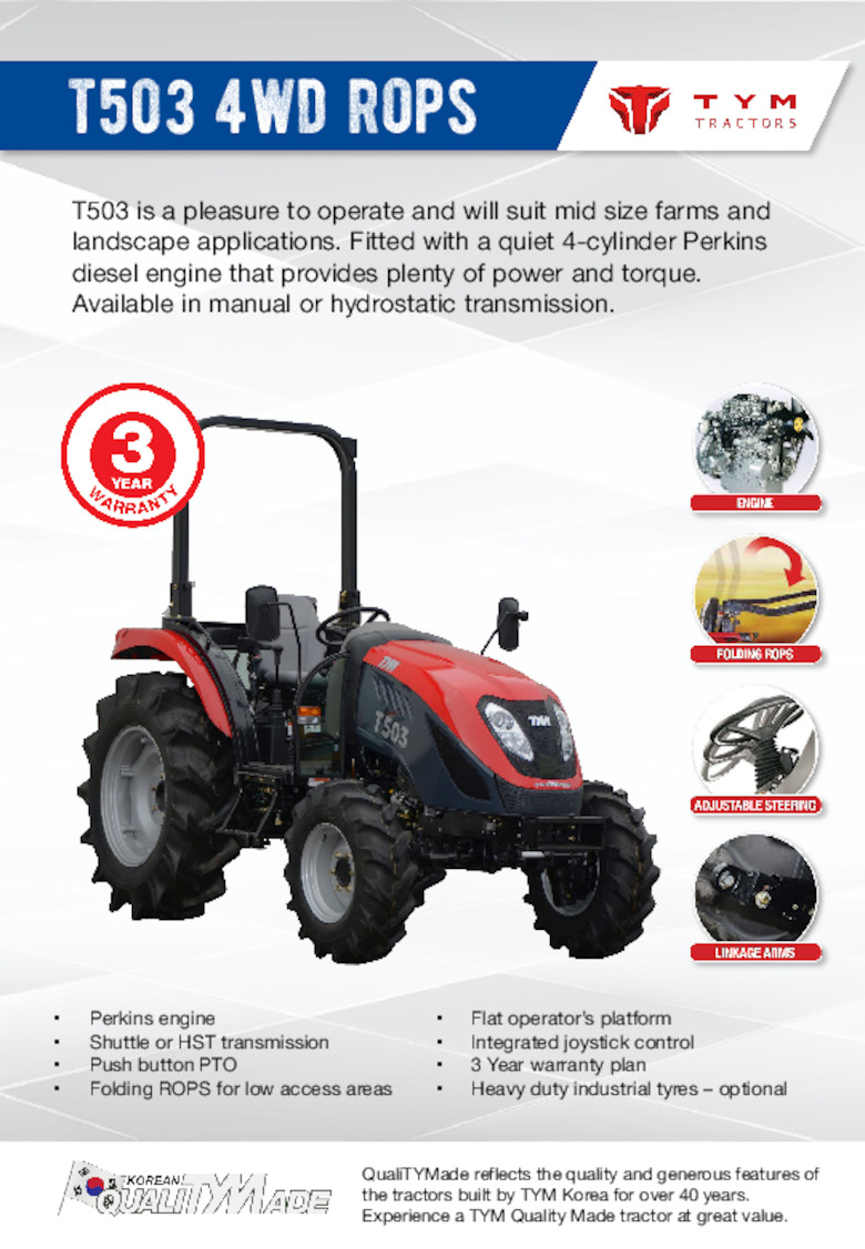 T503 ROPS